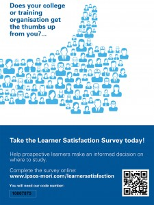 Learner Satisfaction Survey 'Thumbs Up' Poster with QR Code