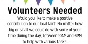 poster for volunteers
