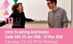 acting, drama courses, mary ward centre, central london, affordable courses, adult education, london courses, holborn, bloomsbury