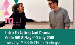 acting course, courses, mary ward centre, adult education, part time courses