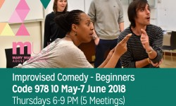 improvised comedy, courses, mary ward centre, adult education, part time courses
