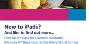 Ageing Better iPad poster - MAry Ward Centre 2017