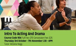 acting, mary ward centre, part time courses