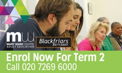 Mary Ward Centre, adult education, courses, london
